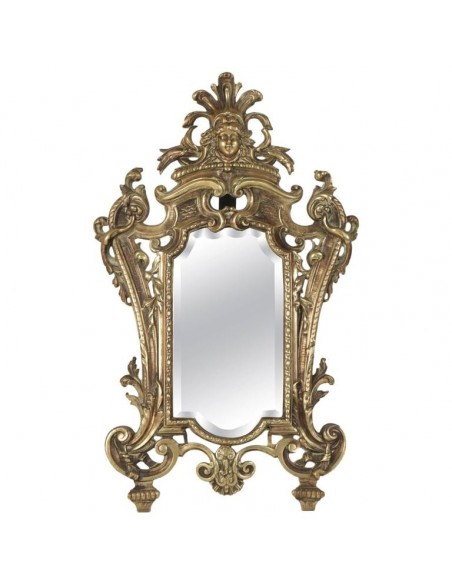 Vanity Mirror in Bronze Patine From the 19th Century