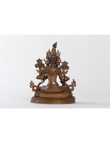 Sculpture Indian Goddess in patinated bronze