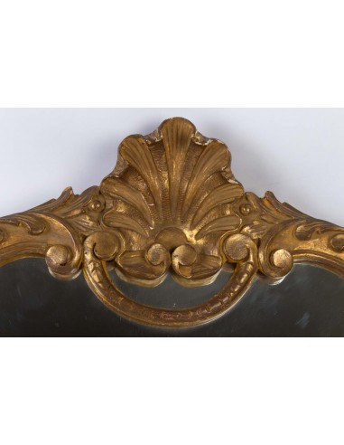 Carved and Patinated Wooden Mirror in the Louis XV Style