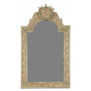 Carved and Patinated Wooden Mirror in the Napoleon III Style