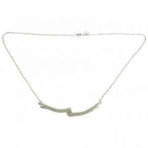 "Handcrafted Silver Necklace ""Grace Kelly"""