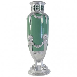 Celadon Vase in Faience, antique from XIX century, Napoleon III