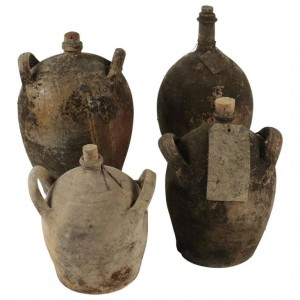 Set of 4 Bottles in Old Terracotta