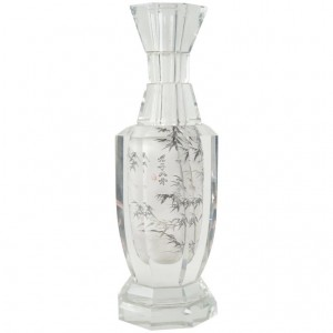 Chinoiserie Vase in Crystal, China