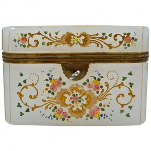 Enamelled Opaline box