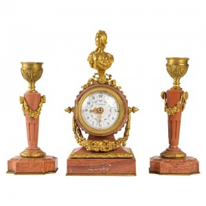 19th century Miniature Desk Clock