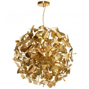Pendant Light with Amber Swarovski Crystals