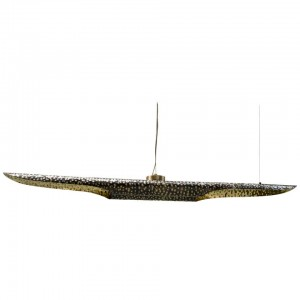 Suspension Light in Hammered Aged Brass