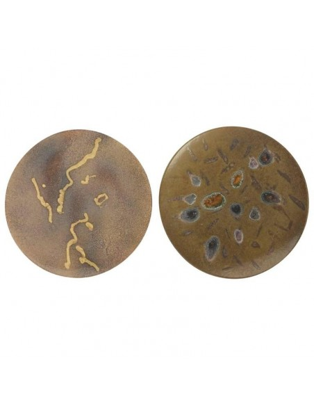 Two hand Painted Abstract Ceramic Plates by Alan Beitner