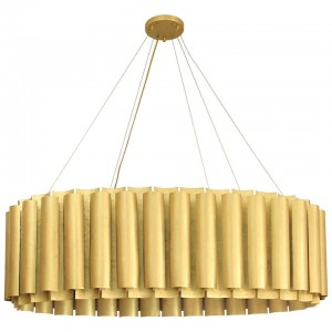 Oval Pendant Light in Matte Hammered Brass