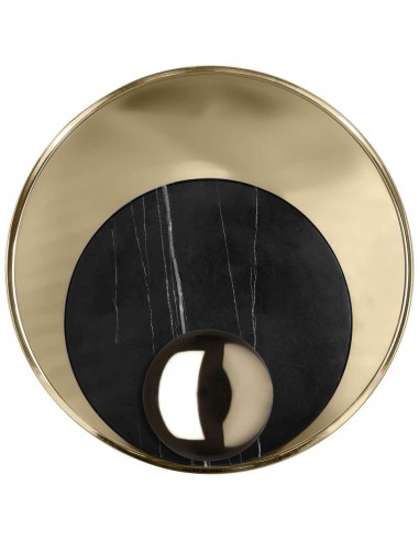 Small Wall Lamp in Gold-Plated Brass and Marble