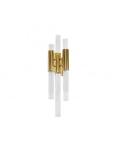 Sconce in Gold-Plated Brass with Crystal Glass