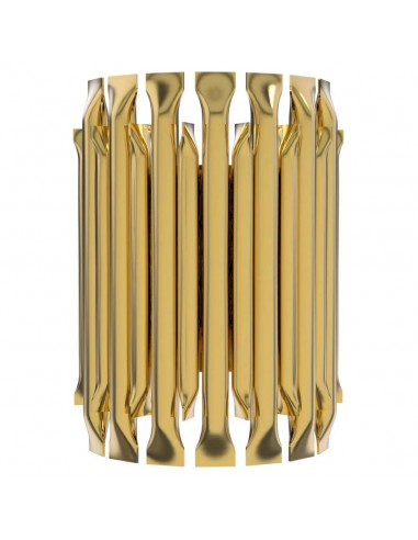 Small Wall Light with Brass Finish