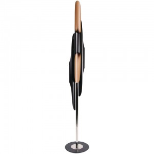 Floor Lamp in Black and Steel