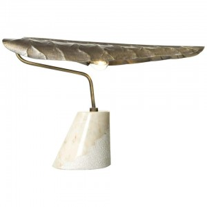 Table Lamp in Brass with Marble Base