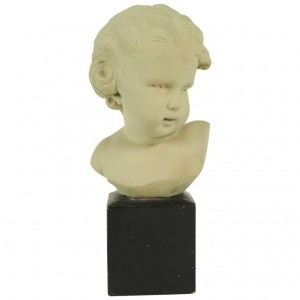 Bust of a Child in Terra Cotta, Signed Gobet