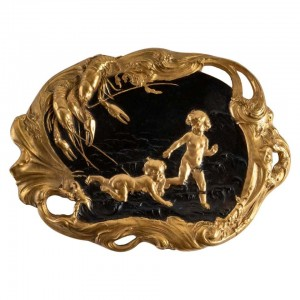 Large Bronze Tray