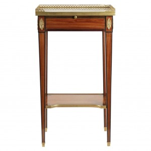 Louis XVI Small Table with Shelf
