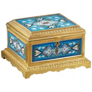 Gilded and Enamelled Bronze Box