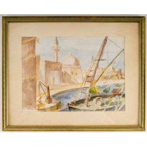 Drawing View of an Oriental Port