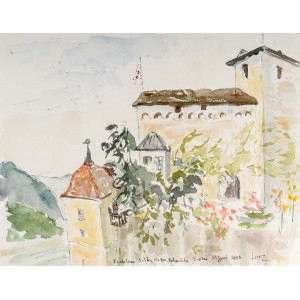 Fortress and Landscape, Watercolour on Paper