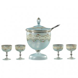 Punch Bowl And Glass