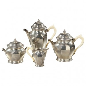 Solid Silver Tea and Coffee Service 19th Century