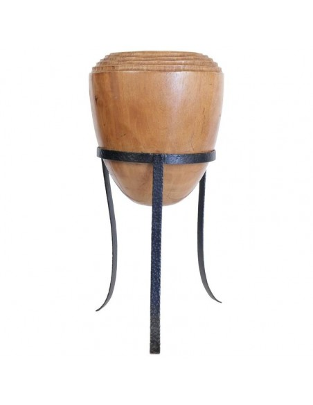 Large  Decorative Pot in Solid Wood, Design of XXth Century