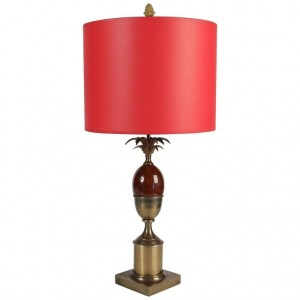 Mid Century modern 1960's red lamp