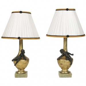 Pair of Napoleon III lamps