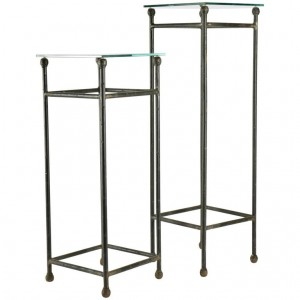 Two Consoles in Wrought Iron