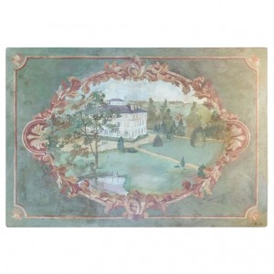 Oil on Canvas 20th C. of the Chateau de la Marche en Nievre.