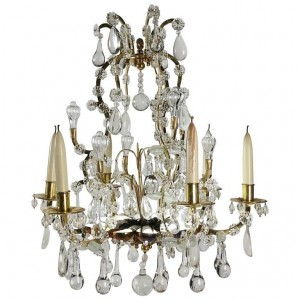 Chandelier, Style of Louis XV with Crystal from the 19th Century