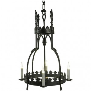 Hanging Lamp in the Gothic Style