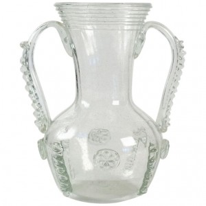 Glass Vase From Normandy, Rouen, France, 19th Century, Old Dishes