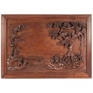 Carved Wood Panel, China, 20th Century, Interior Decoration