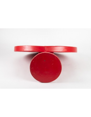 Mirror Layers, Red Leather Coated, Design 1950, Attributed To Jacques Adnet