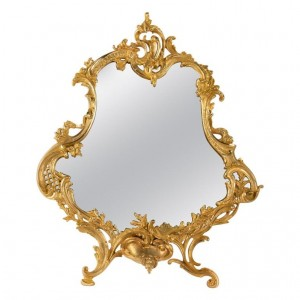 Important Gilt Bronze Table Mirror, Napoleon III Period, 1870-1880, Large Decoration