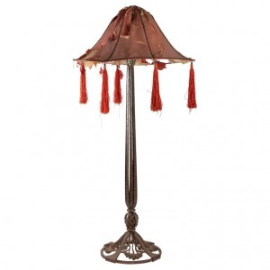 Important Table Lamp From Raymond Subes, 1930, Wrought Iron, Era Decorative Art