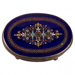 Box, Box Set, XIXth Century, Napoleon III Period, Porcelain And Brass Mount