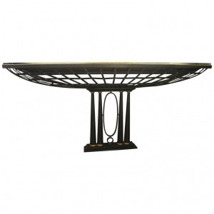 Important French Console in Iron, Design of XXth Century