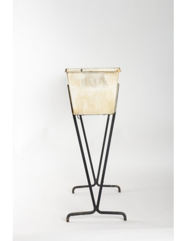 Planter in Sheet Metal and Wrought Iron, 1950