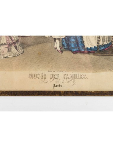"""19th Century Engraving, Under Glass, Depicting """"the Family Museum""""."""