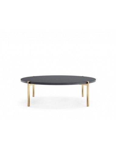 Design Coffee Table, Top in Lacquered Granite Stainless steel feet gilded, Great decoration.