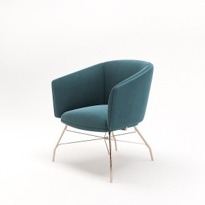 Armchair , Armchair with metal legs