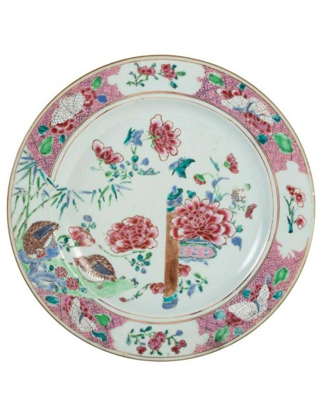 Dish in Canton Porcelain, 18th Century