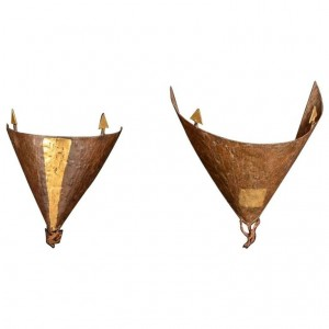 Two Wall Sconces, From the Artist Jean-Jacques Argueyrolles, 20th Century Design