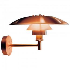 Louis Poulsen, Outdoor Wall Lamp in Cooper by Poul Henningsen