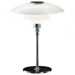 Louis Poulsen, Large Glass Table Light by Poul Henningsen