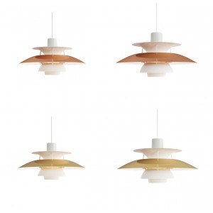 Louis Poulsen, 300/500 Metal Pendant Light by Poul Henningsen
